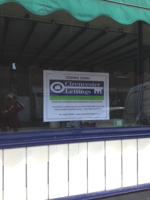 Cirencester Lettings Shop Front